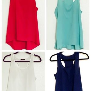 Set of 4 Racer Back sleeveless tos